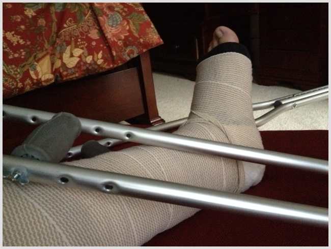 Five Things to be Thankful for About My Broken Ankle