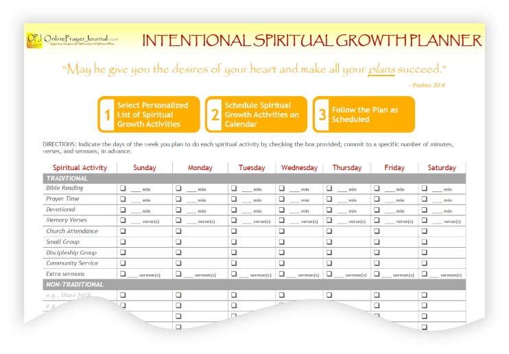 Intentional Spiritual Growth Planner