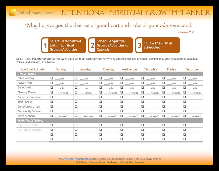 Get Free Intentional Spiritual Growth Planner